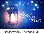 eid al fitr. islamic holiday.... | Shutterstock .eps vector #649061131