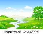 vector cartoon illustration of... | Shutterstock .eps vector #649064779