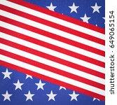 grunge usa flag | Shutterstock . vector #649065154