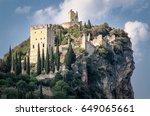 castello di arco  arco castle ... | Shutterstock . vector #649065661