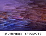 colorful glitched background.... | Shutterstock .eps vector #649069759