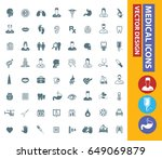 medical icon set clean vector | Shutterstock .eps vector #649069879