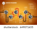 vector infographic company... | Shutterstock .eps vector #649071655