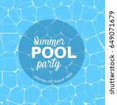 vector summer pool party... | Shutterstock .eps vector #649071679