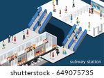 isometric flat 3d concept... | Shutterstock .eps vector #649075735