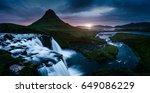 the kirkjufell volcano the... | Shutterstock . vector #649086229