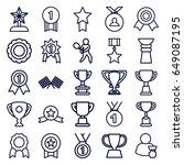 champion icons set. set of 25... | Shutterstock .eps vector #649087195