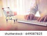 online shopping concept. man's... | Shutterstock . vector #649087825