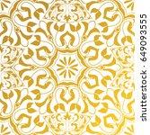 vector seamless texture. golden ... | Shutterstock .eps vector #649093555