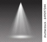 projector light effect. white... | Shutterstock .eps vector #649097344