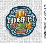 vector logo for oktoberfest on... | Shutterstock .eps vector #649098175