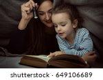 little girl and her mother... | Shutterstock . vector #649106689