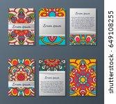 set of flyers  brochures ... | Shutterstock .eps vector #649108255