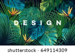 bright tropical background with ... | Shutterstock .eps vector #649114309