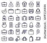 bag icons set. set of 36 bag... | Shutterstock .eps vector #649114444