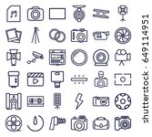 camera icons set. set of 36... | Shutterstock .eps vector #649114951