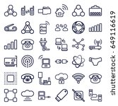 connect icons set. set of 36... | Shutterstock .eps vector #649116619