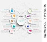 vector infographic templates... | Shutterstock .eps vector #649123045