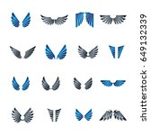 freedom wings emblems set.... | Shutterstock .eps vector #649132339