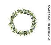 Vector Wreath Of Green Branche...