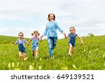 happy family mother and... | Shutterstock . vector #649139521
