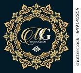 vector logo templates. gold...   Shutterstock .eps vector #649142359