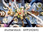 group of diverse people... | Shutterstock . vector #649142641