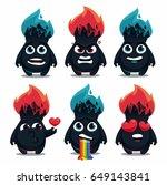 fire monster set | Shutterstock .eps vector #649143841