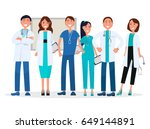 physicians in uniform isolated... | Shutterstock .eps vector #649144891