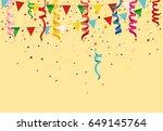 colorful multicolored confetti... | Shutterstock .eps vector #649145764
