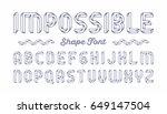 impossible shape font. vector. | Shutterstock .eps vector #649147504