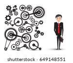 successful young businessman in ... | Shutterstock .eps vector #649148551