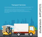 warehouse and transportation... | Shutterstock .eps vector #649149151