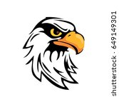 eagle head logo | Shutterstock .eps vector #649149301