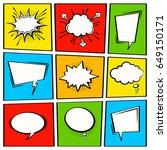 comic vector speech box set. ... | Shutterstock .eps vector #649150171