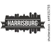 harrisburg skyline silhouette... | Shutterstock .eps vector #649151755