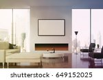 front view of a living room... | Shutterstock . vector #649152025