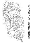 fantasy fanny vector... | Shutterstock .eps vector #649157071