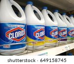 Small photo of PENANG, MALAYSIA - MAY 11, 2017: Bottles of Corox Bleach on store shelves. Clorox is an American Company founded in 1913.