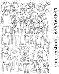 hand drawn stylized children... | Shutterstock .eps vector #649164841