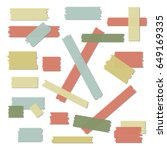 scotch  color tape collection ...   Shutterstock .eps vector #649169335