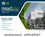 blue and green flyer cover... | Shutterstock .eps vector #649169467