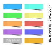 set of colorful vector sticky... | Shutterstock .eps vector #649170397