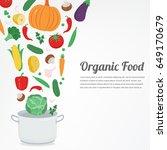 organic food. vegetable food... | Shutterstock .eps vector #649170679