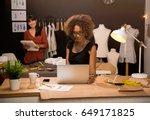 two young entrepreneur women ...   Shutterstock . vector #649171825