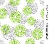 seamless lime pattern. vector... | Shutterstock .eps vector #649172911