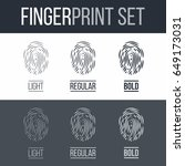 abstract set of fingerprints...   Shutterstock .eps vector #649173031