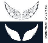 wing icon. vector illustration | Shutterstock .eps vector #649175551