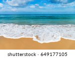 white small kindly waves on... | Shutterstock . vector #649177105