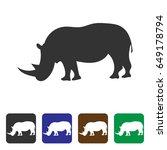 rhino icon. | Shutterstock .eps vector #649178794